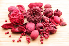 Red potpourri Stock Photography