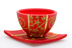 Red pottery Stock Image