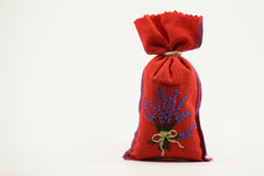 Red pouch. On white background Stock Photo