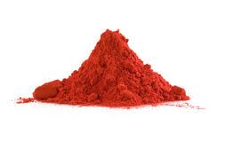 Red powder. Pile of red powder isolated on white Royalty Free Stock Images