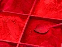 Red powder for sale in Kathmandu Stock Photo
