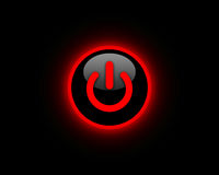 Red power button Royalty Free Stock Images