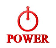 Red power button Royalty Free Stock Photography