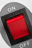 Red power button Stock Photography