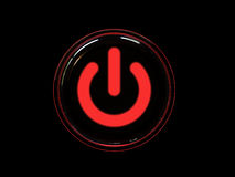 Red power button Royalty Free Stock Photo