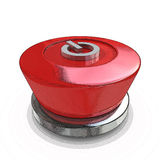 Red power button Royalty Free Stock Photos