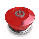 Red power button Stock Image