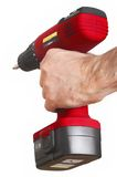 Red power drill rote Bohrmaschine Royalty Free Stock Photo