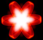 Red Power Energy Star Or Fractal Royalty Free Stock Images