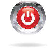 Red power icon Royalty Free Stock Images