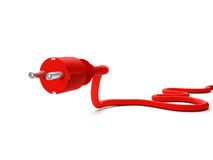 Red power outlet Stock Image