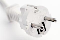 Red power plug Stock Photo