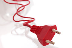 Red Power plug Stock Image