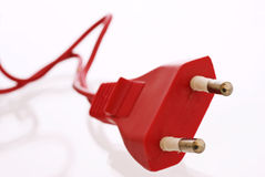Red Power Plug Royalty Free Stock Photos