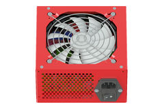 Red Power Supply Unit Royalty Free Stock Photos