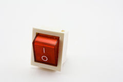 Red power switch. In off position Royalty Free Stock Image