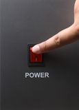 Red power switch Stock Image