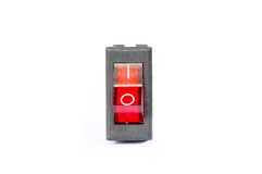 Red power switch button Stock Photo