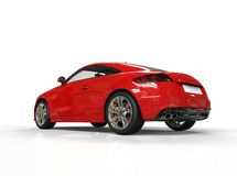 Red Powerful Car Back Side View Royalty Free Stock Photos