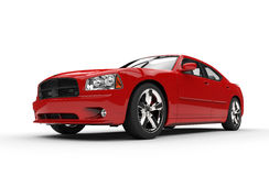 Red Powerful Car Royalty Free Stock Photo