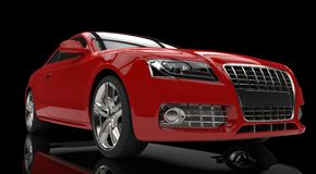 Red Powerfull Car Royalty Free Stock Image