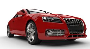 Red Powerfull Car Royalty Free Stock Photo