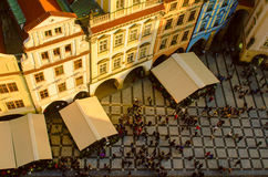 Red Prague roofs Royalty Free Stock Photo