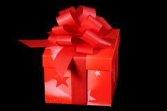 Red present. With a ribbon Stock Image