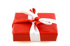 Red Present with Bow Stock Images