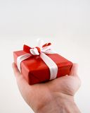 Red Present with Bow Royalty Free Stock Photography