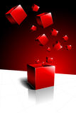 Red Present Box Stock Images