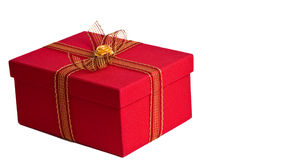 Red present box Stock Photos
