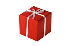 Red present box Royalty Free Stock Photos