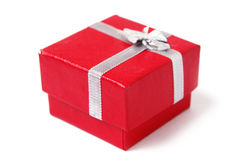 Red present box isolated Royalty Free Stock Image