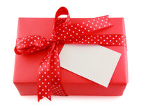 Red present box Stock Photo