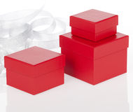Red present boxes Royalty Free Stock Photography