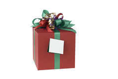 Red present, clipping path Royalty Free Stock Images