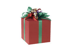 Red present, clipping path Stock Photography