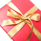 Red present with golden loop Stock Image