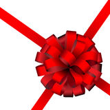 Red present ribbon Stock Photography
