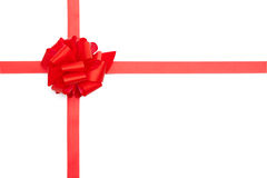 Red present ribbon bow Royalty Free Stock Photography