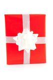 Red present with white bow Royalty Free Stock Photography