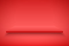 Red Presentation platform Stock Photos
