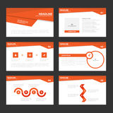 Red presentation templates Infographic elements flat design set for brochure flyer leaflet marketing Royalty Free Stock Photo