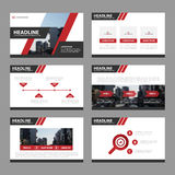 Red presentation templates Infographic elements flat design set for brochure flyer leaflet marketing advertising Royalty Free Stock Images