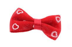 Red pretty bow tie. Royalty Free Stock Photography