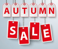 Red Price Stickers Autumn Sale Royalty Free Stock Photos
