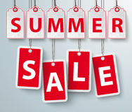 Red Price Stickers Summer Sale Stock Photos