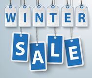 Red Price Stickers Winter Sale Stock Photos
