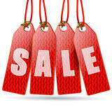 Red price tags Stock Photo